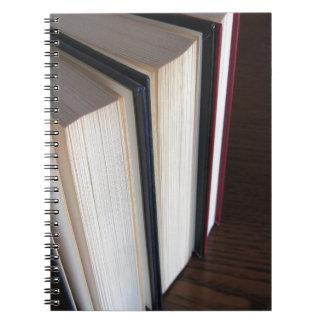 Caderno Espiral A segunda mão registra a posição em uma mesa de