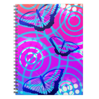 Caderno Espiral A vibração da borboleta