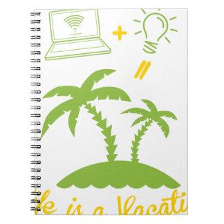 Caderno Espiral A vida é umas férias