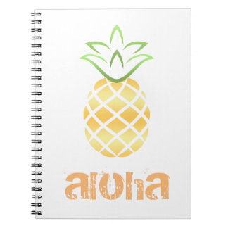 Caderno Espiral Abacaxi Aloha Havaí!
