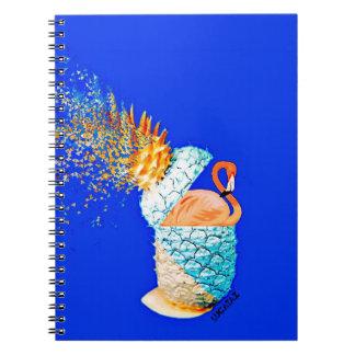 Caderno Espiral Abacaxi do flamingo