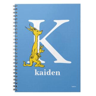 Caderno Espiral ABC do Dr. Seuss: Letra K - O branco | adiciona