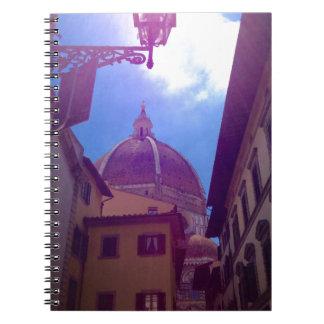 Caderno Espiral Abóbada de Brunelleschi em Florença, Italia