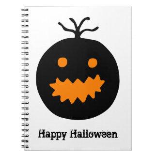Caderno Espiral Abóbora bonito do Dia das Bruxas