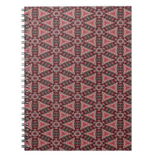 Caderno Espiral Abstracção cor-de-rosa