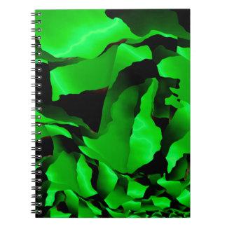 Caderno Espiral Abstracção desgastada verde