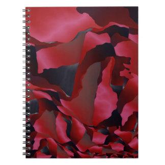 Caderno Espiral Abstracção desgastada vermelho