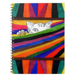 Caderno Espiral Abstracção listrada Design2