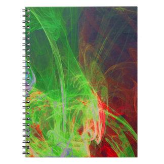 Caderno Espiral Abstracção vermelha verde