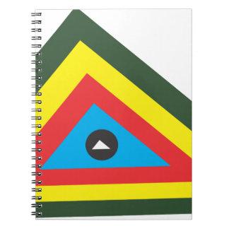 Caderno Espiral abstrato