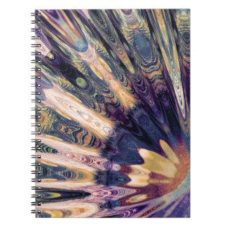 Caderno Espiral Abstrato de Boho