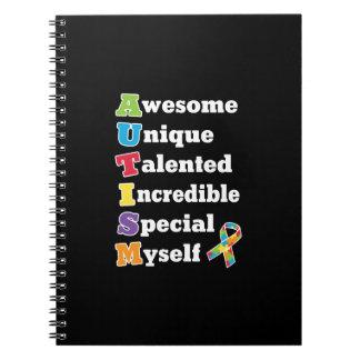 Caderno Espiral Acrônimo da consciência do autismo