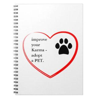 Caderno Espiral Adopção do animal de estimação