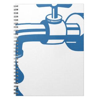 Caderno Espiral Água da torneira