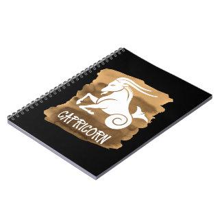 Caderno Espiral Aguarela estilizado de Brown do sinal do
