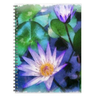 Caderno Espiral Aguarela roxa de Lotus