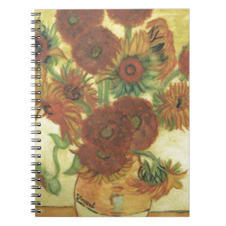 Caderno Espiral Ainda vida: Girassóis