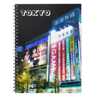 Caderno Espiral Akihabara (cidade elétrica) em Tokyo, Japão