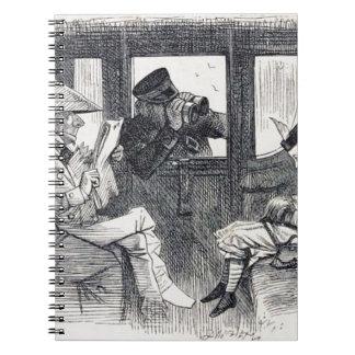 Caderno Espiral Alice no trem
