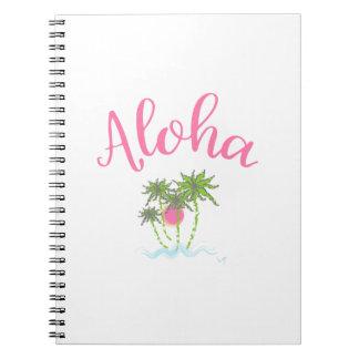 Caderno Espiral Aloha estilo havaiano Summera das praias