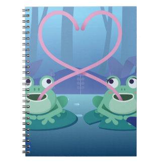 Caderno Espiral amantes do sapo do dia dos namorados