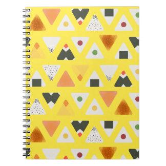 Caderno espiral amarelo de ONIGIRI