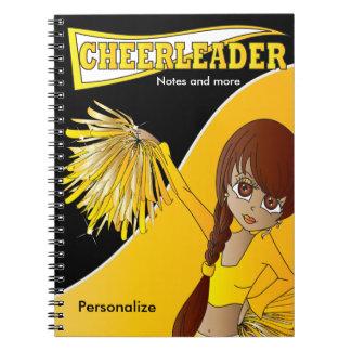 Caderno Espiral Amarelo do nome | do cheerleader | DIY