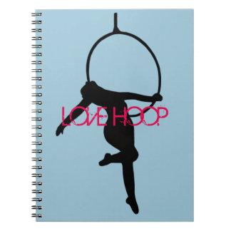 Caderno Espiral AME a aro da ARO/o livro de nota aéreos silhueta