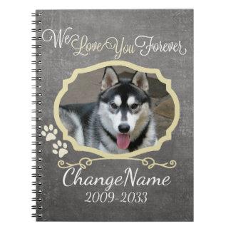 Caderno Espiral Ame-o perseguem para sempre a lembrança memorável