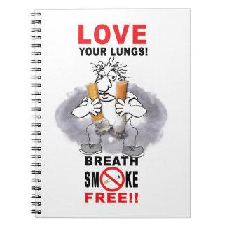 Caderno Espiral Ame seus pulmões - pare de fumar