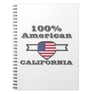 Caderno Espiral Americano de 100%, Califórnia