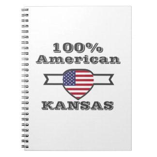 Caderno Espiral Americano de 100%, Kansas