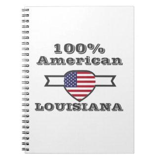 Caderno Espiral Americano de 100%, Louisiana