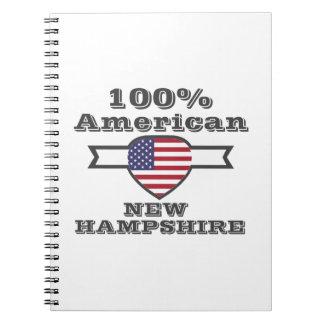 Caderno Espiral Americano de 100%, New Hampshire