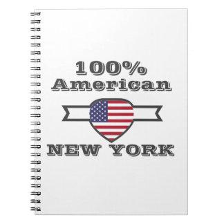 Caderno Espiral Americano de 100%, New York