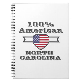 Caderno Espiral Americano de 100%, North Carolina