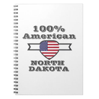 Caderno Espiral Americano de 100%, North Dakota