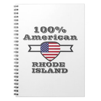 Caderno Espiral Americano de 100%, Rhode - ilha