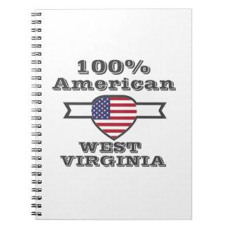 Caderno Espiral Americano de 100%, West Virginia