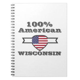 Caderno Espiral Americano de 100%, Wisconsin