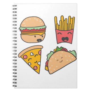 Caderno Espiral amigos do fast food