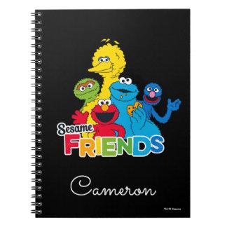 Caderno Espiral Amigos do sésamo do Sesame Street |