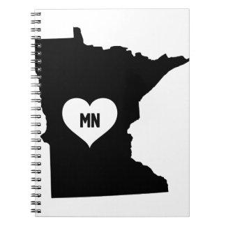 Caderno Espiral Amor de Minnesota