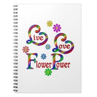 Caderno Espiral Amor vivo flower power