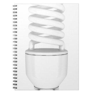 Caderno Espiral Ampola fluorescente
