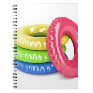 Caderno Espiral Anéis da natação