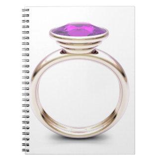 Caderno Espiral Anel de ouro cor-de-rosa