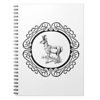 Caderno Espiral anel do pronghorn
