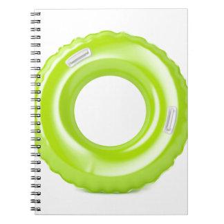 Caderno Espiral Anel verde da natação