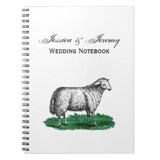 Caderno Espiral Animais de fazenda da ovelha dos carneiros do